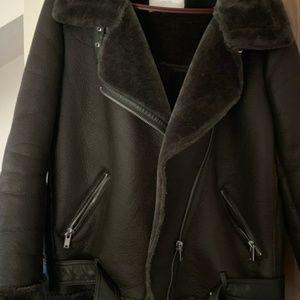 Zara green aviator jacket size small